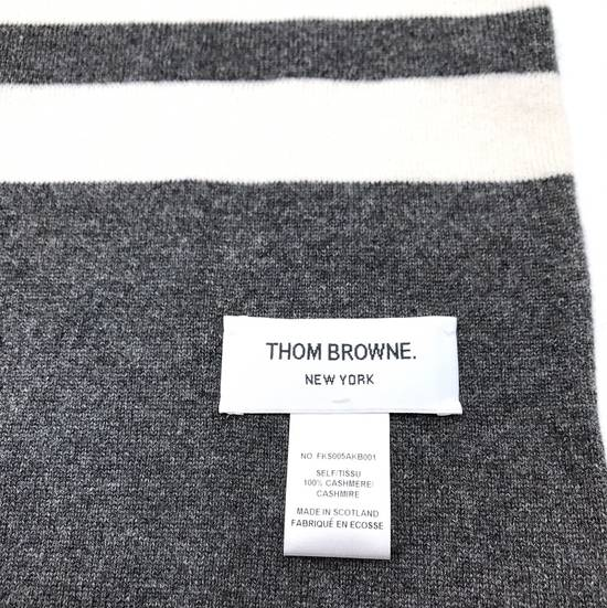 Thom Browne THOM BROWNE CLASSIC CASHMERE MID GREY SCARF Size ONE SIZE - 2