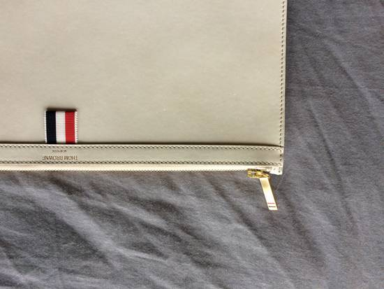 Thom Browne NEW! Nubuck Med Zipper Document Holder (A4) Size ONE SIZE - 3
