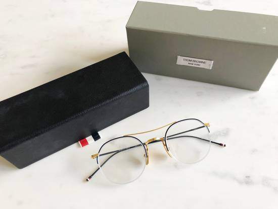 Thom Browne THOM BROWNE NAVY & GOLD OPTICAL GLASSES Size ONE SIZE