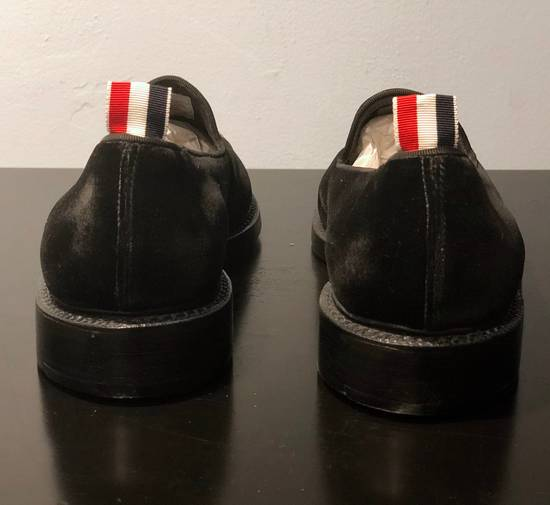 Thom Browne Embroidered Dog Distressed Velvet Runway Loafers Size US 11 / EU 44 - 2