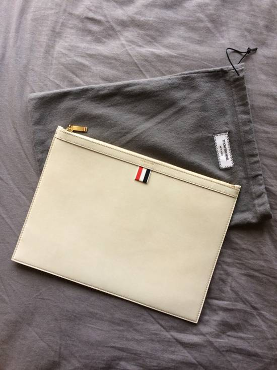 Thom Browne NEW! Nubuck Med Zipper Document Holder (A4) Size ONE SIZE