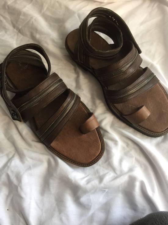 Julius Julius Brown Zipper Sandals Size US 9 / EU 42 - 4