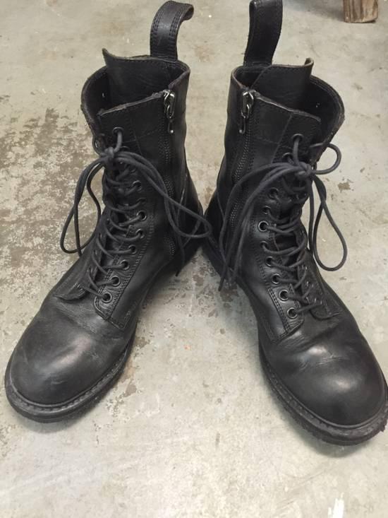 Julius 11-Hole Sidezip Combat Boots Size US 9 / EU 42