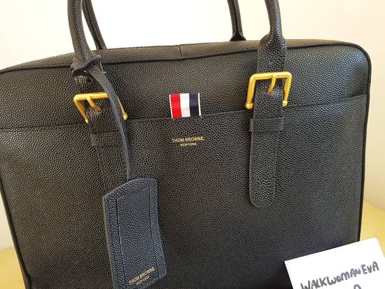Thom Browne Thom Browne Business Bag briefcase suitcase Black Pebble Grain Size ONE SIZE - 1