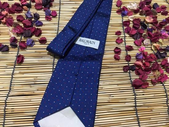 Balmain Balmain Necktie, Blue Color Necktie, Dot Pattern Size ONE SIZE - 2