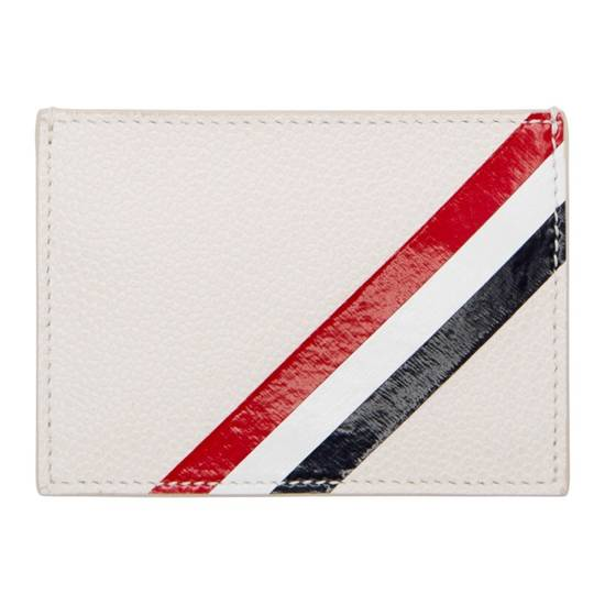 Thom Browne Off-White Diagonal Stripe Single Card Holder Size ONE SIZE - 5
