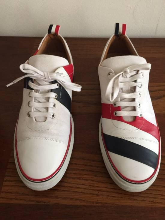 Thom Browne Men's Thom Browne Cap Toe Low-Top White Training Sneakers Size US 11 / EU 44 - 1