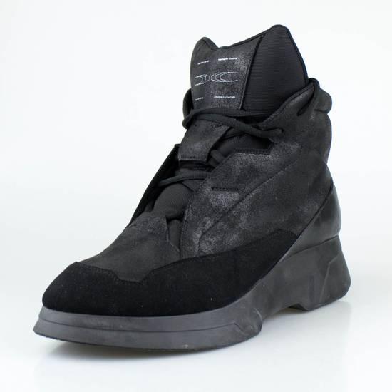 Julius 7 Black Coated Cloth Leather Hi Top Sneakers Shoes Size US 11 / EU 44 - 1