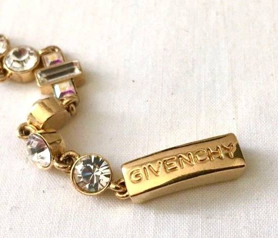 Givenchy Givenchy Gold Tone Crystal Iced Out Tennis Bracelet Diamonds Size ONE SIZE - 2