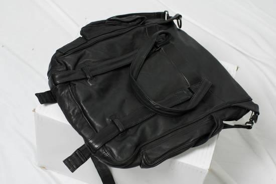 Julius AW09 Black Leather Satchel/Messenger/Shoulder/Tote Bag Size ONE SIZE - 2