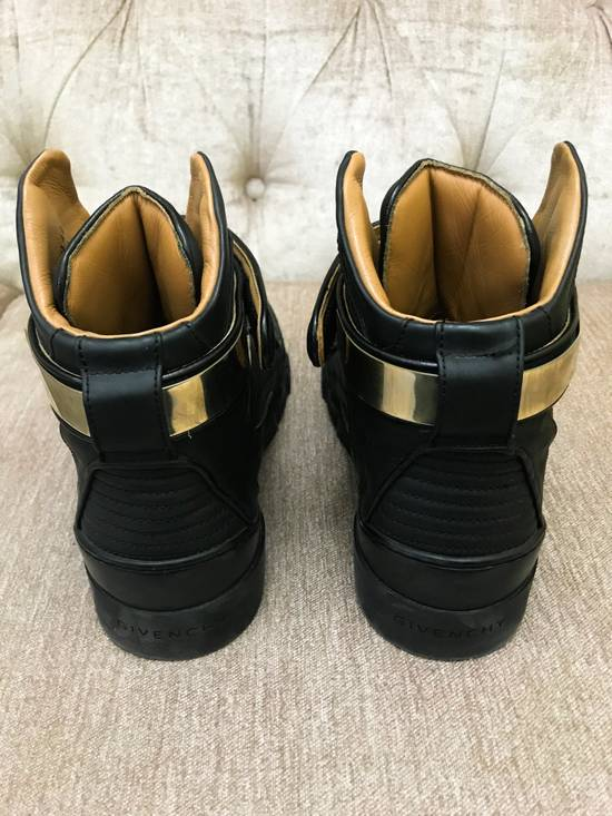 Givenchy High-Top Gold-Strap Sneaker Size US 7 / EU 40 - 1