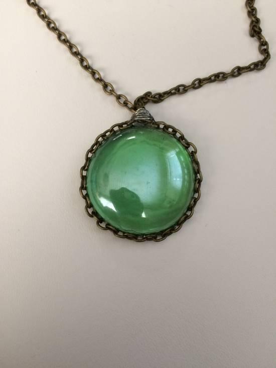 Jw Green glass bronze Chain necklace Size ONE SIZE - 3