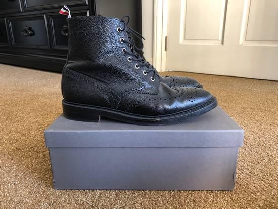 Thom Browne Men's Black Pebble Wingtip Boot Shoe Size US 12 / EU 45 - 2