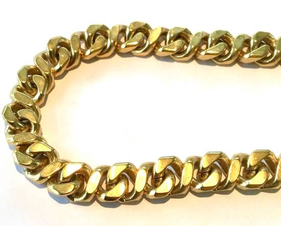 Givenchy Givenchy Cuban Link Gold Tone Chain Vintage 24 Inch Necklace G Clasp Size ONE SIZE - 2