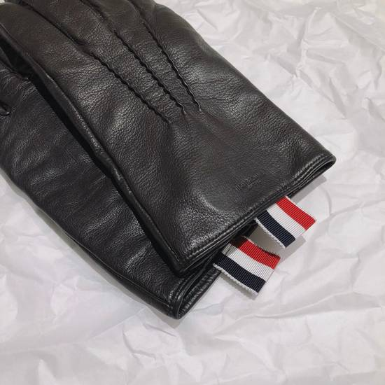 Thom Browne Lamb Skin Leather Gloves Size ONE SIZE - 2