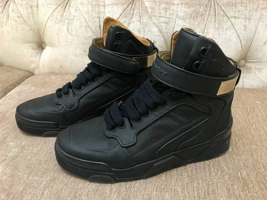 Givenchy High-Top Gold-Strap Sneaker Size US 7 / EU 40 - 11