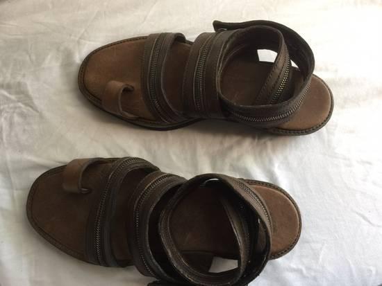 Julius Julius Brown Zipper Sandals Size US 9 / EU 42 - 2