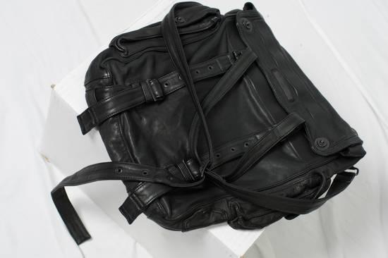 Julius AW09 Black Leather Satchel/Messenger/Shoulder/Tote Bag Size ONE SIZE - 1