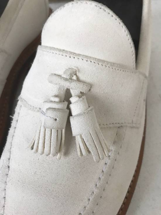 Thom Browne LIMITED THOM BROWNE White Suede Tassel Loafers RWB GG Size US 8.5 / EU 41-42 - 2