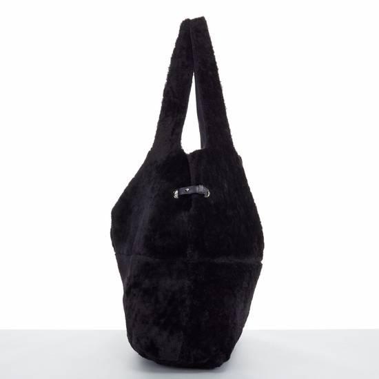 Givenchy GIVENCHY TISCI black reversible leather shearling fur oversize hobo shoulder bag Size ONE SIZE - 6