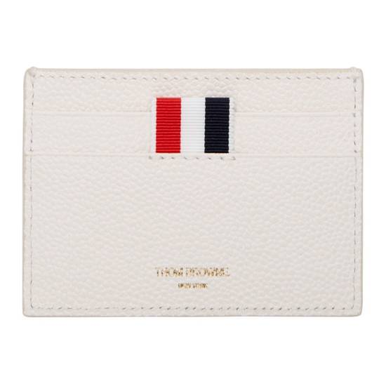 Thom Browne Off-White Diagonal Stripe Single Card Holder Size ONE SIZE - 6