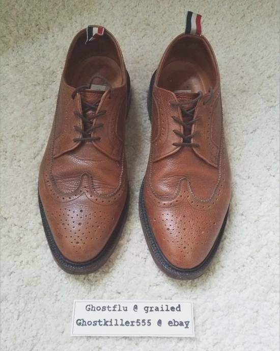 Thom Browne Thom Browne Classic Pull Tab Brown Leather Longwing Brogue Pebble Grain Size 11 Size US 11 / EU 44