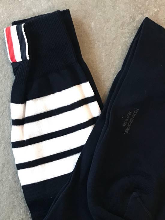 Thom Browne **LAST DROP** Ribbed Knee High Sock W/ 4 Bar Stripe Size ONE SIZE - 1