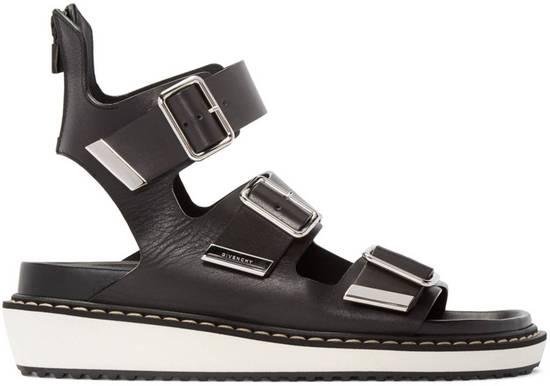 Givenchy Black Multi-Strap Sandals Size US 12 / EU 45 - 1