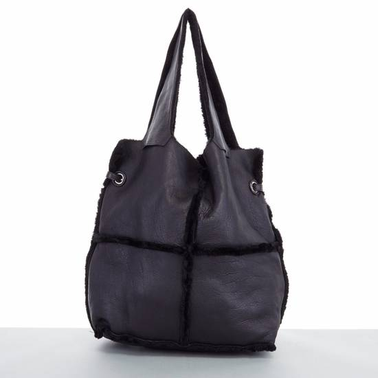 Givenchy GIVENCHY TISCI black reversible leather shearling fur oversize hobo shoulder bag Size ONE SIZE - 8