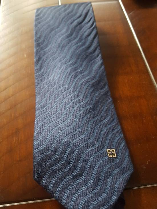 Givenchy Navy Striped Givenchy tie Size ONE SIZE