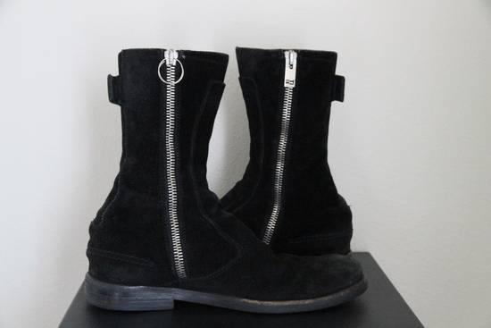Dior RARE AW04 Dior Homme 'VOTC' Hedi Slimane Black Suede Leather Boots 42 / 9 Size US 9 / EU 42