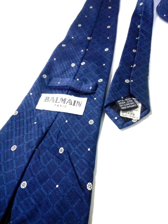 Balmain Luxury Balmain Paris Tie Men Necktie Silk Nice Design France Made Size ONE SIZE