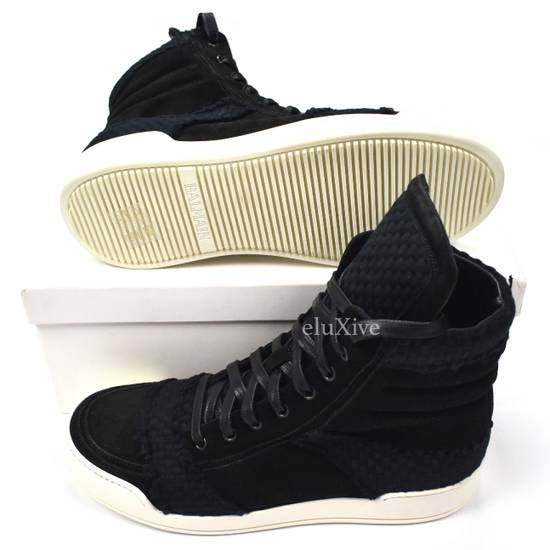 Balmain Black Woven Suede Sneakers DS Size US 8 / EU 41 - 1