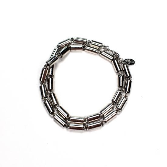 Givenchy 1976 Silver Barrel Chain Necklace / Bracelet Size ONE SIZE - 2