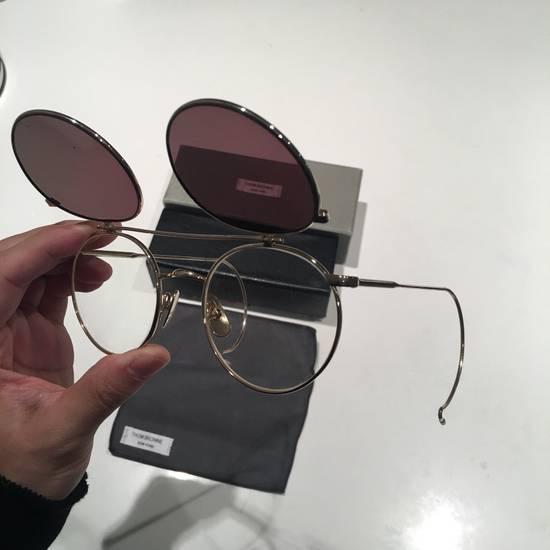 Thom Browne TB Gold Double Lens Round Sunglasses Size ONE SIZE - 4