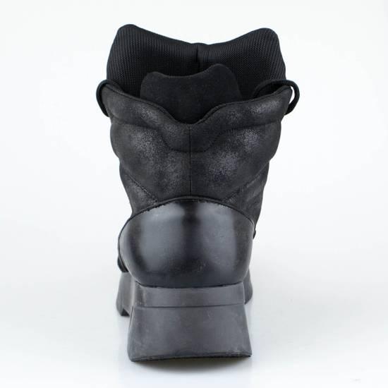 Julius 7 Black Coated Cloth Leather Hi Top Sneakers Shoes Size US 11 / EU 44 - 3