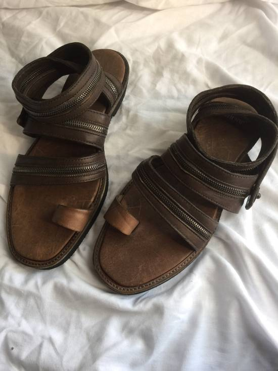 Julius Julius Brown Zipper Sandals Size US 9 / EU 42 - 6
