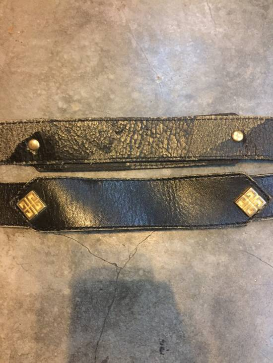 Givenchy Rare! Vintage! Givenchy Belt Classics Monogram Logo in Gold Finishing!Super Rare!High-End!Hypebeast!Streetwears! Size 28 - 2