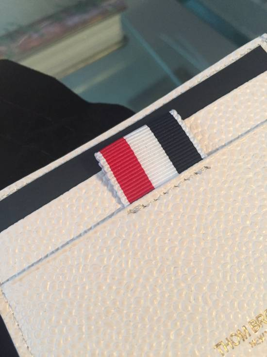 Thom Browne New $370 Leather Card Holder Size ONE SIZE - 4