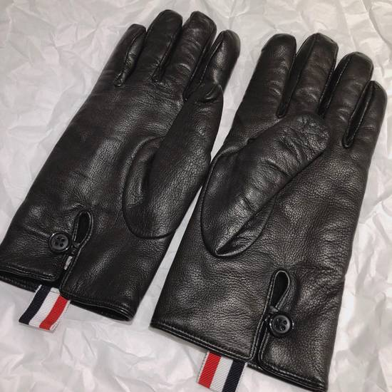 Thom Browne Lamb Skin Leather Gloves Size ONE SIZE