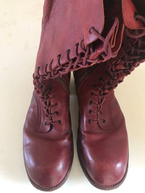 Julius AW09 blood high cut side zips boots Size US 10 / EU 43 - 1