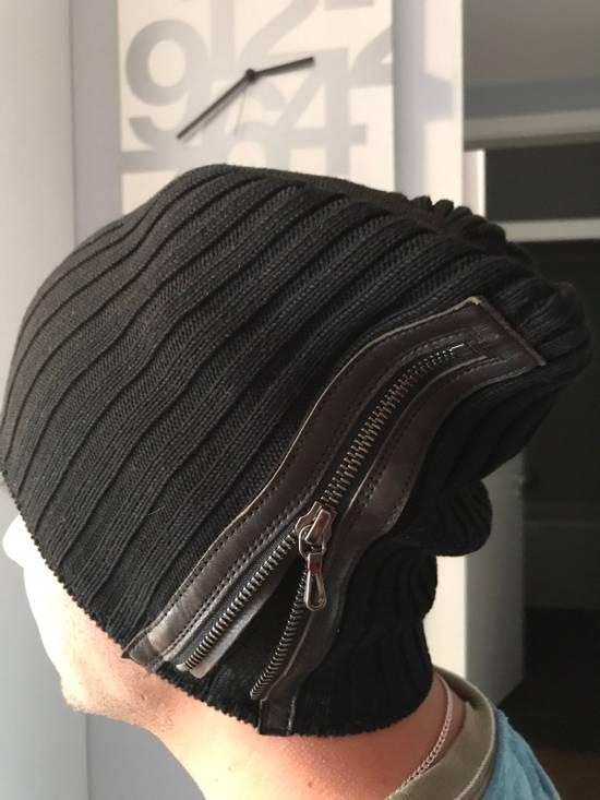 Julius Black Zipped Beanie Size ONE SIZE - 4