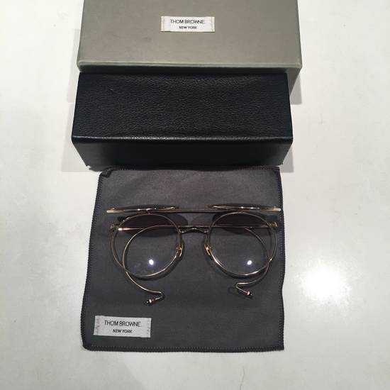 Thom Browne TB Gold Double Lens Round Sunglasses Size ONE SIZE - 1