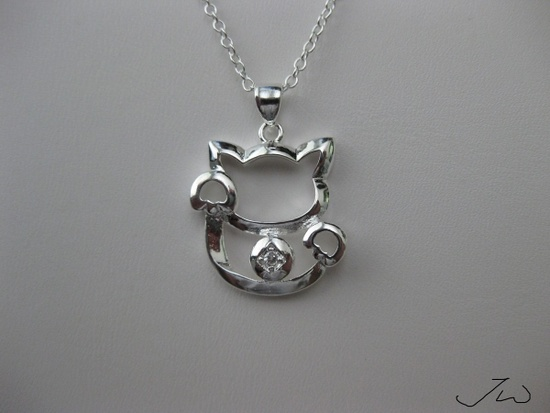 Jw Lucky Cat Chain Necklace with cz Size ONE SIZE - 2