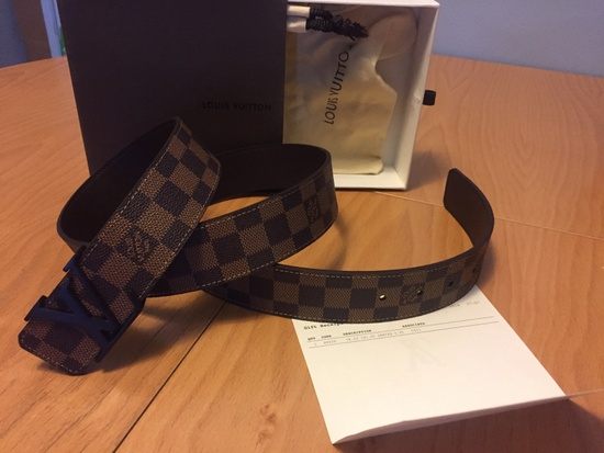 louis vuitton louis vuitton brown damier belt size 32