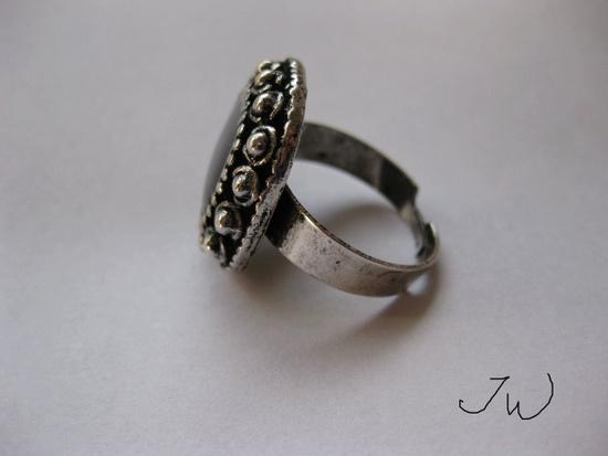 Jw CZ Tibetan Silver Ring - Black Size ONE SIZE - 2