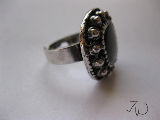 Jw CZ Tibetan Silver Ring - Black Size ONE SIZE - 4