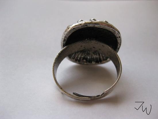 Jw CZ Tibetan Silver Ring - Black Size ONE SIZE - 3