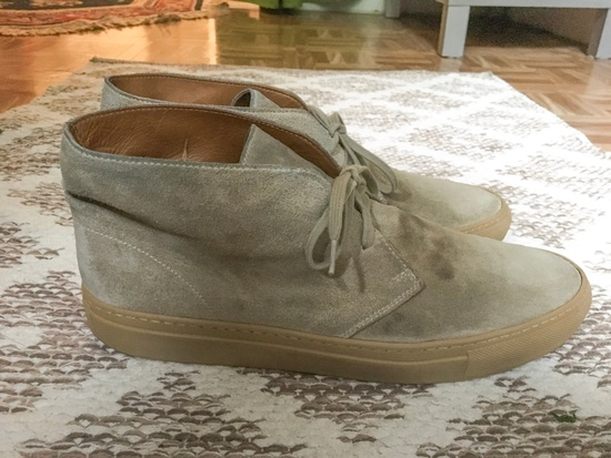common projects common projects chukka tan suede size 10 hi top sneakers for sale grailed. Black Bedroom Furniture Sets. Home Design Ideas