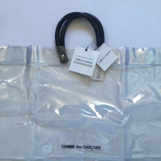 Comme Des Garcons Clear Cdg Logo Vinyl Tote Bag Nwt Size